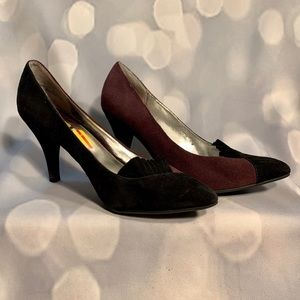 TWO COLOR SUEDE HIGH HEELS by DAISY FUENTES 7